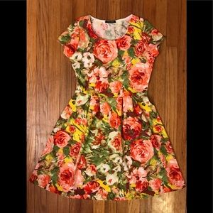 Papermoon floral short-sleeves dress